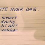 Å skrive positive lister virker ikke
